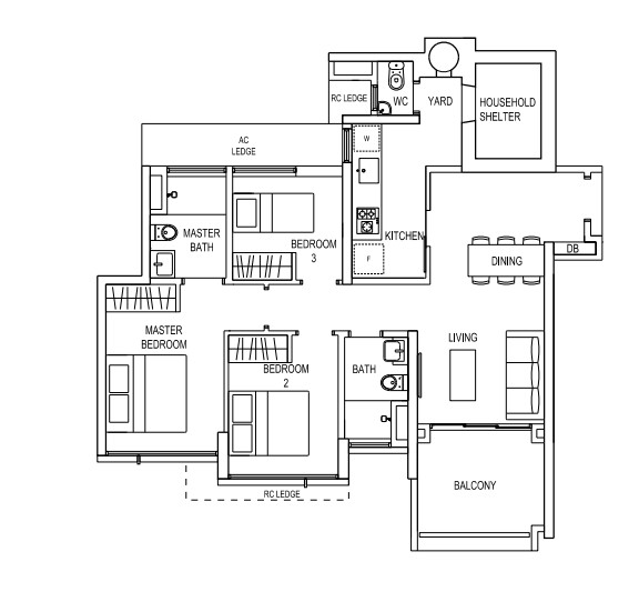 Whipple Park further Dorm in addition Hwepl12904 also Simple Small House Floor Plans 3 Bedroom Simple Small House Floor besides Rectangular House Floor Plans. on bedroom layout