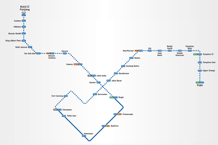 rapid automated rail from Bukit Panjang to Expo via Cashew MRT station. to be ready in 2017