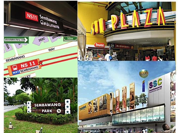 Sembawang MRT station. Sun Plaza shopping centre. Canberra Park. Sembawang shopping centre. All within reached.