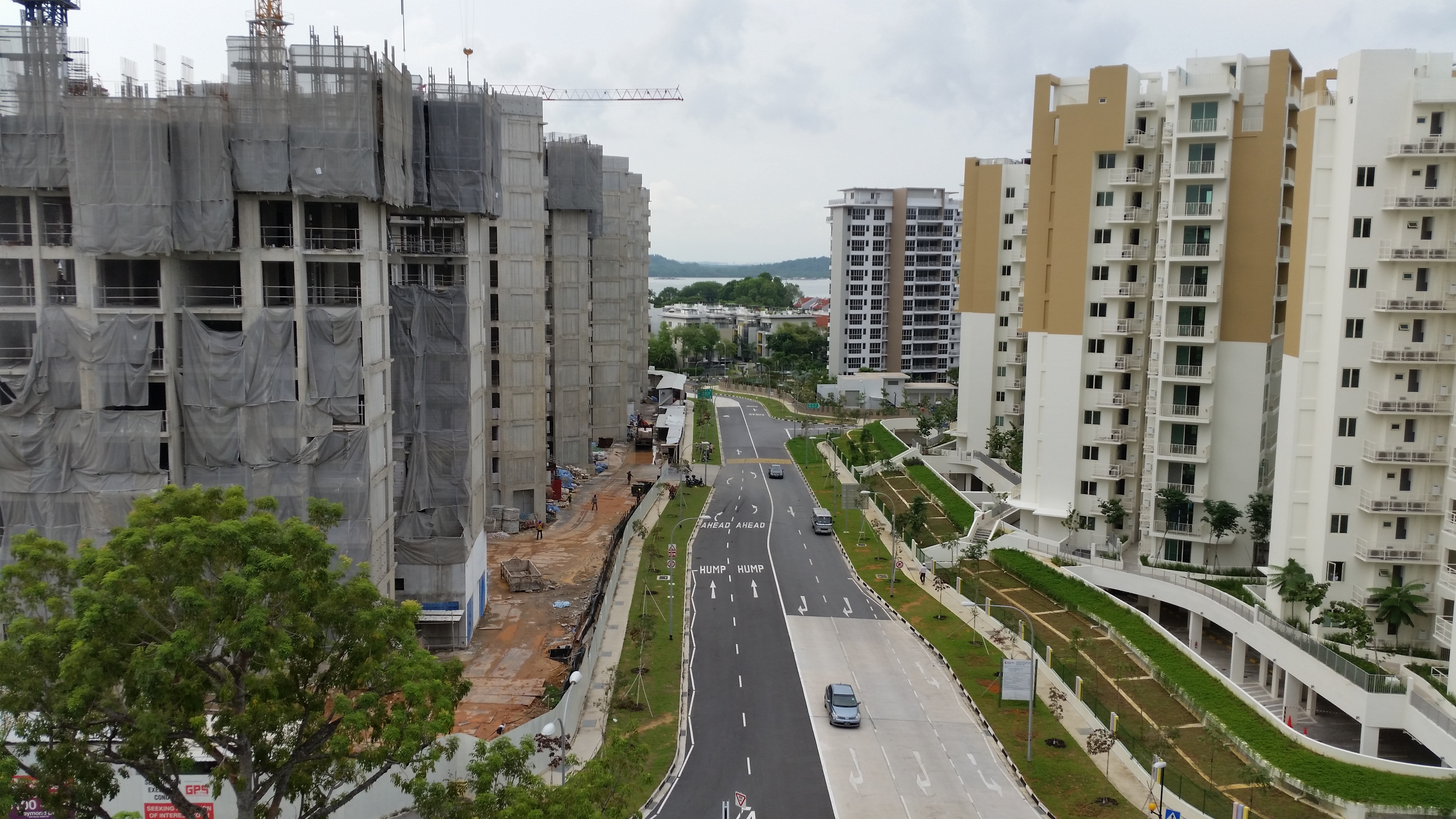 Construction stage of Sea Horizon EC in Pasir Ris