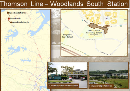 Thomson Line. Woodlands South MRT station to Marina South