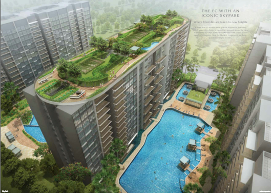 SkyPark Residences EC at Sembawang MRT station