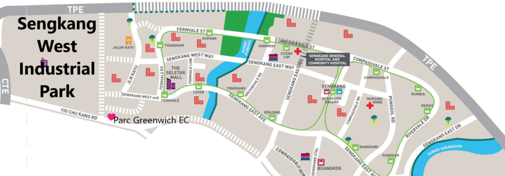 Parc Greenwich EC in Sengkang, EC opposite Greenwich V shopping mall, EC unblock view landed enclave